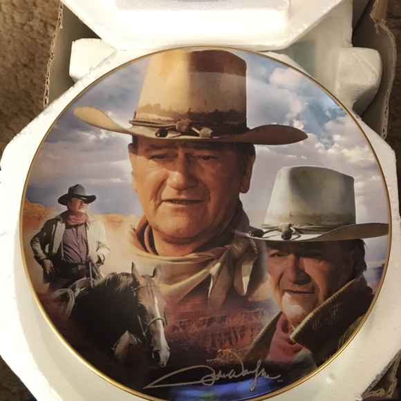 John Wayne collectors plate